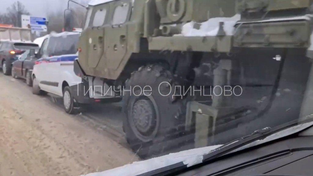 Ракетный комплекс С-400 попал в ДТП в Подмосковье